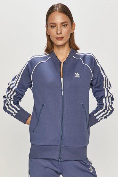 adidas Originals - Bluza, Fason drept, Incheiere cu fermoar, Buzunare incheiate, Stofa subtire, inflexibila