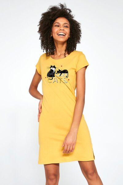 Camasa de noapte pentru femei Lazy Cats, Tricot, Certificat de calitate si de siguranta Oeko-Tex® Standard 100