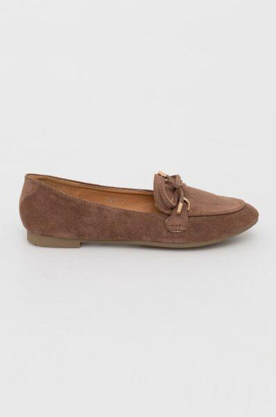 Answear Lab - Pantof Malien, Maro auriu, Cutie rotunda si moale, Interior confortabil, Spatele calcaiului moale