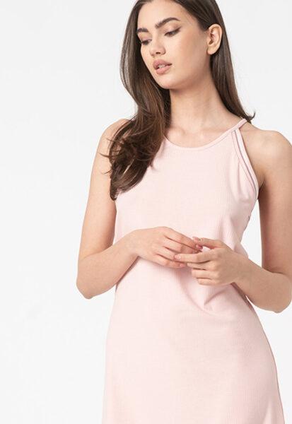 ESPRIT Bodywear - Camasa de noapte cu striatii, Roz, Poliester