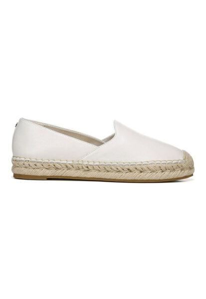 Sam Edelman - Espadrile tip pantofi loafer din piele Kesia, Alb, Piele naturala