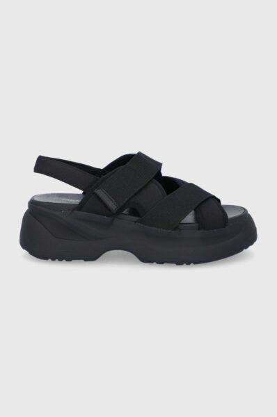 Vagabond - Sandale Essy, Negru, - Incheiere cu scai, Material neted, Talpa din guma, Insertie din piele
