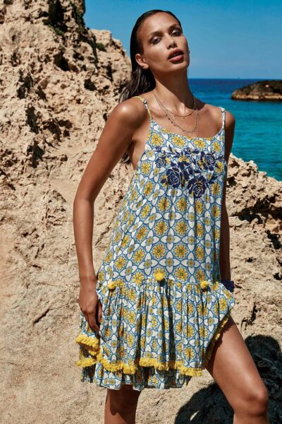 Rochie de plaja Gigi, Multicolor, Panza