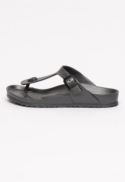 Birkenstock - Papuci flip-flop regular fit Gizeh, Gri inchis, Casual, Piele ecologica
