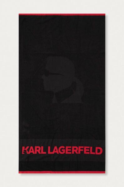 Karl Lagerfeld - Prosop, Negru, Model confectionat din panza cu imprimeu