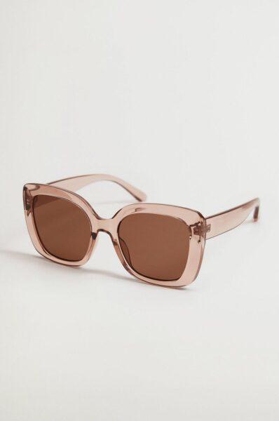Mango - Ochelari de soare ROSE, Roz, Forma ramelor: patrat, Protectie UV
