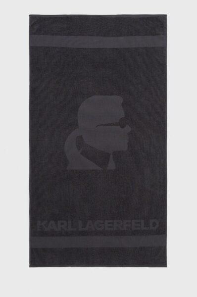 Karl Lagerfeld - Prosop, Gri, Model confectionat din material neted de bumbac