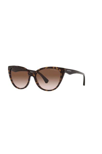 Emporio Armani - Ochelari de soare, Maro, Forma ramelor: ochi de pisica, Protectie UV