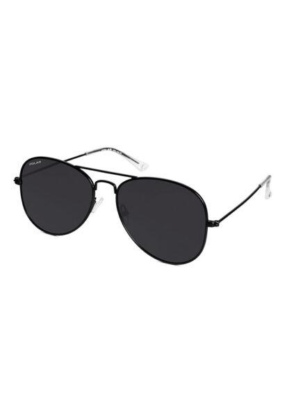 POLAR - Ochelari de soare unisex polarizati, Negru, Lentila Gri inchis, Protectie UV 3