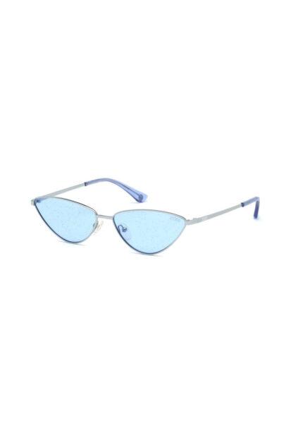 VICTORIA'S SECRET - Ochelari de soare cat-eye polarizati, Albastru, Polarizati, Protectie UV 400