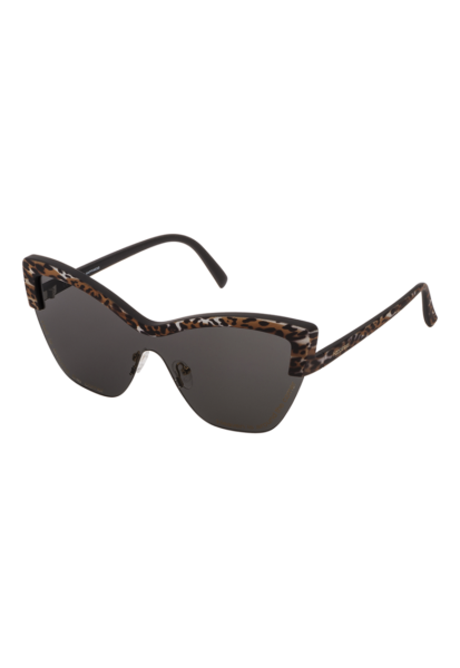 STING - Ochelari de soare cat-eye cu lentile uni, Maro, Negru, Alb, Protectie UV 400