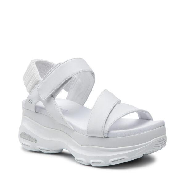 Sandale SKECHERS, Alb, Material de inalta calitate