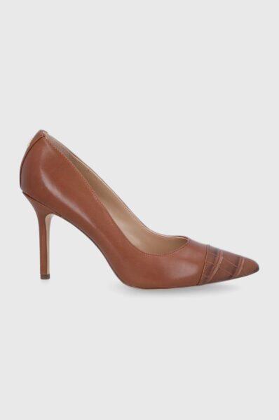 Lauren Ralph Lauren - Stilettos de piele, Cutie cu varf, intarita, Spatele calcaiului peternic rigidizat, Model pe toc subtire