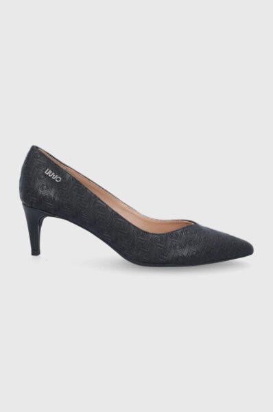 Liu Jo - Pantofi cu toc, Nergu, Cutie cu varf, intarita, Spatele calcaiului peternic rigidizat, Insertie din piele