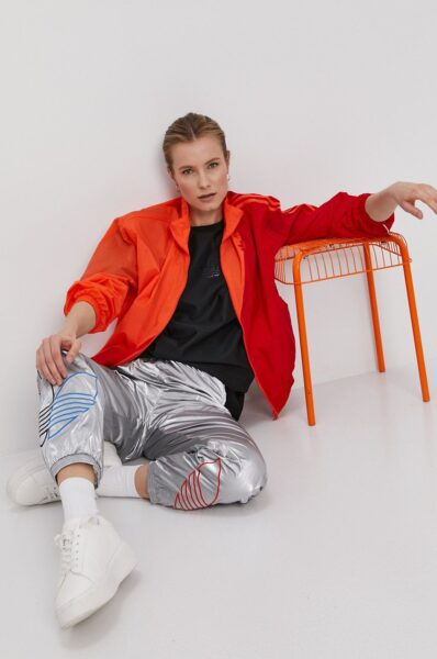 adidas Originals - Tricou, Negru, Decolteu rotund, Fason drept, Model cu imprimeu