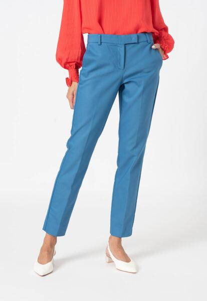 Marella - Pantaloni cu talie medie Propos Suit, Albastru, Sintetic